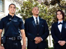 vigilante de seguridad femenino vigilante de seguridad masculino male and female security guard watchman for private security company