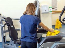 gym cleaning staff personal de limpieza para gimnasio cleaning lady empleada de limpieza