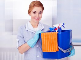 maid service empleada de limpieza para oficinas miscelanea medio tiempo part-time miscellaneous office cleaning clerk cleaning lady