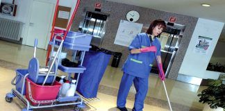 personal de limpieza femenino y masculino para geriatrico female and male cleaning staff for geriatric limpieza de centro de dia
