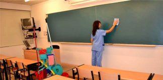 Empleadas Para Tareas de Limpieza en Escuela, Jornada Medio Tiempo Employees for cleaning tasks at school, part-time shift