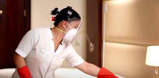 empleada de limpieza mucama con cama empleada del hogar domestic staff housekeeper