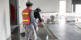 personal de construcción trabajadores de concreto costruction personnel drywall finishers construction carpenters concrete workers