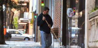 Conserje janitors encargado de edificio