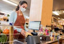 cajera para supermercado cashier