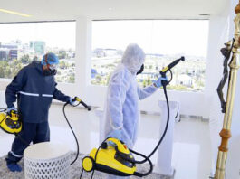 limpieza en sala velatoria cleaning