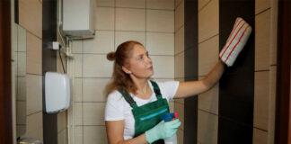 empleada de limpieza en geriatrico cleaning employee in geriatric